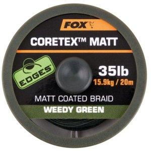 Fox Ztužená šňůrka Edges Coretex Matt 20m - Weedy Green 15lb