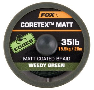 Fox Ztužená šňůrka Edges Coretex Matt 20m - Weedy Green 25lb