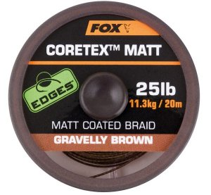 Fox Ztužená šňůrka Edges Coretex Matt 20m - Gravelly Brown 15lb