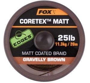 Fox Ztužená šňůrka Edges Coretex Matt 20m - Gravelly Brown 25lb