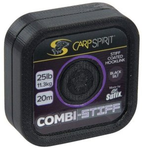 Carp Spirit Šňůra Combi Stiff Coated Braid Black Silt 20m - 15lb