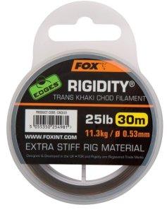 Fox Vlasec Edges Rigidity Trans Khaki 30m - 0.53mm 25lb