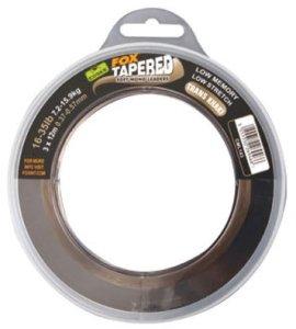 Fox Ujímané šokové návazce Edges Soft Tapered Leaders Trans Khaki - 12-30lb 0.33/0.50mm