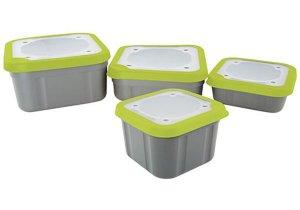 Matrix Box Bait Boxes Solid Top Grey/Lime - velká 3,3pt