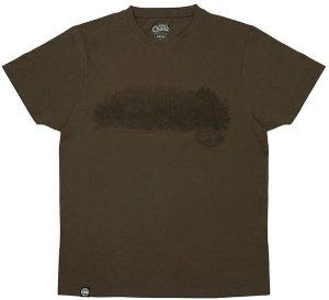 Fox Triko Chunk Dark Khaki Scenic T-shirt - S