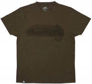 Fox Triko Chunk Dark Khaki Scenic T-shirt - M
