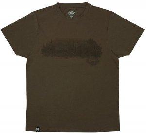 Fox Triko Chunk Dark Khaki Scenic T-shirt - XXXL