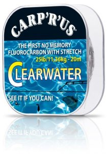 Carp ´R´ Us Návazcový fluorocarbon Clearwater 20m - 15lb