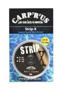 Carp ´R´ Us Potahovaná šňůrka Strip-X Matt Brown 20m - 45lb
