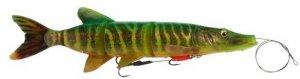Savage Gear Gumová nástraha SG 4D Line Thru Pike Firetiger - 25cm 110g