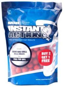 Nash Boilie Instant Action Squid & Krill - 12mm 1kg