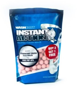Nash Boilie Instant Action Strawberry Crush - 12mm 1kg