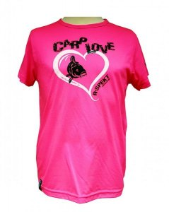 R-Spekt Dětské tričko Carp Love fluo pink - 9/10 yrs