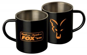 Fox Nerezový hrnek Stainless Black XL Mug 400ml