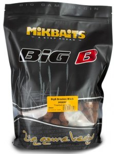 Mikbaits Boilie Big - BigB Broskev Black pepper 20mm 1kg