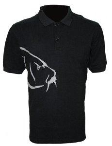 Zfish Tričko Carp Polo T-Shirt Black - L