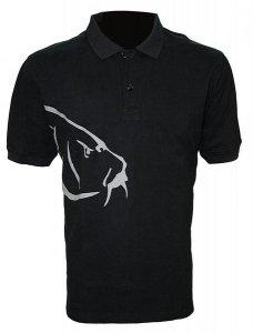 Zfish Tričko Carp Polo T-Shirt Black - XXL