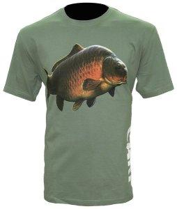Zfish Tričko Carp T-Shirt Olive Green - L