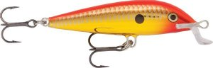 Rapala Wobler Team Esko Chrome Gold Fluorescent Red - 7cm 6g