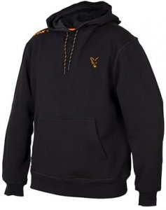 Fox Mikina Collection Black & Orange Hoodie - M
