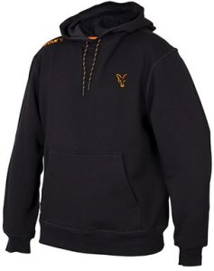 Fox Mikina Collection Black & Orange Hoodie - S