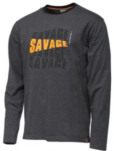 Savage Gear Triko Simply Savage Logo Tee Long Sleeve - L