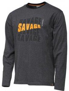 Savage Gear Triko Simply Savage Logo Tee Long Sleeve - XXL
