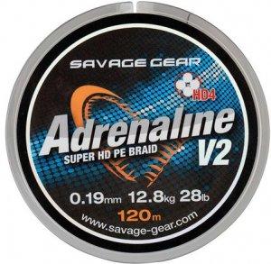 Savage Gear Šňůra HD4 Adrenaline V2 120m - 0,08mm/10lbs/4.5kg