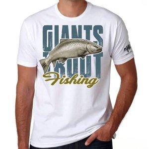 Giants Fishing Tričko pánské bílé Pstruh - XL