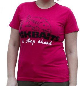 Mikbaits Dámské tričko červené Ladies team - XL