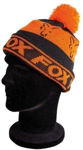 Fox Čepice Black/Orange - Lined Bobble Hat