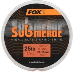 Fox Šňůra Submerge High Visual Orange Sinking Braid - 0,16mm 300m