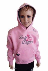 R-Spekt Dětská mikina s kapucí Lady Carper pink - 3/4 yrs