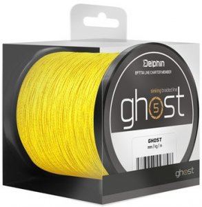Delphin Šňůra Ghost 4+1 žlutá - 0,23mm 30lbs 600m