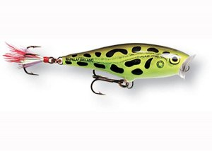 Rapala Wobler Skitter Pop Top Water Fresh Lime Frog - 9cm 14g
