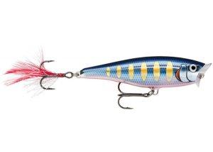 Rapala Wobler Skitter Pop Top Water Striped Hot Blue - 5cm 7g