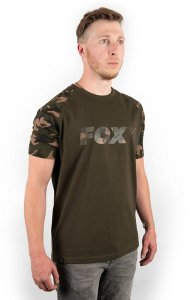 Fox Triko Camo/Khaki Chest Print T-Shirt - L