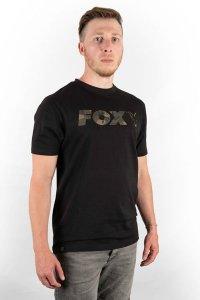 Fox Triko Black/Camo Chest Print T-Shirt - XXXL