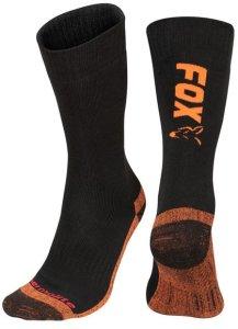 Fox Ponožky Collection Thermolite long sock Black/Orange - 40-43
