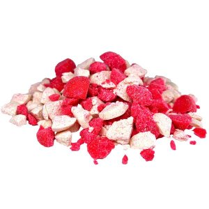 LK Baits Drcené Boilies Crushed Boilies PVA L 800g - Wild Strawberry/Carp Secret
