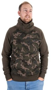 Fox Mikina Khaki/Camo High Neck - XXXL