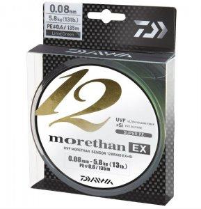 Daiwa Pletená Šňůra Morethan 12 Braid EX+Si 135m průměr: 0,16mm