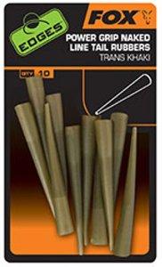 Fox Převleky EDGES Power Grip Naked Line Tail Rubbers vel.7 10ks