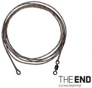 Delphin Návazec The End Leadcore + swivel 3ks 1m