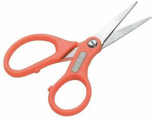 Mivardi Nůžky na pletenou šňůru (s brouskem na háčky)
