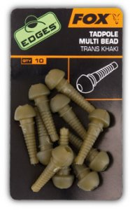 Fox Vsuvka Edges Tadpole Multi bead trans khaki 10 ks