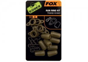Fox Montáž Edges Run Ring Kit Trans Khaki 8ks