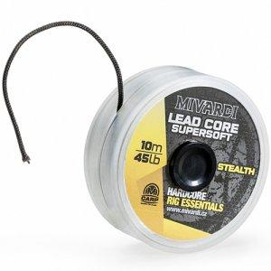 Mivardi Olověná Šňůrka Lead core SuperSoft Stealth 10 m 45 lb