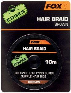 Fox Návazcová Šňůrka Edges Hair Braid Brown 10 m
