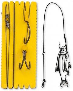 Black Cat Sumcový Návazec Bouy And Boat Ghost Double Hook Rig 140 cm Háček 6/0